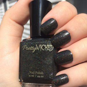 Black Holographic Nail Polish, Dakota Polish