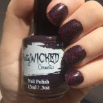 Black/Pink Holographic Nail Polish, Desdemona Polish