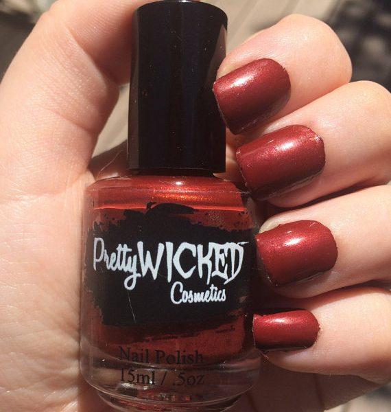 Blood Red Nail Polish - Jezebel Polish - Red Nail Polish - Dark Red Nail Polish - Creme Nail Polish - Indie Nail Lacquer -
