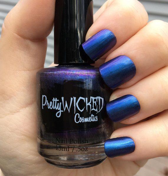 Blue/Purple Duochrome Nail Polish, Octavia Polish