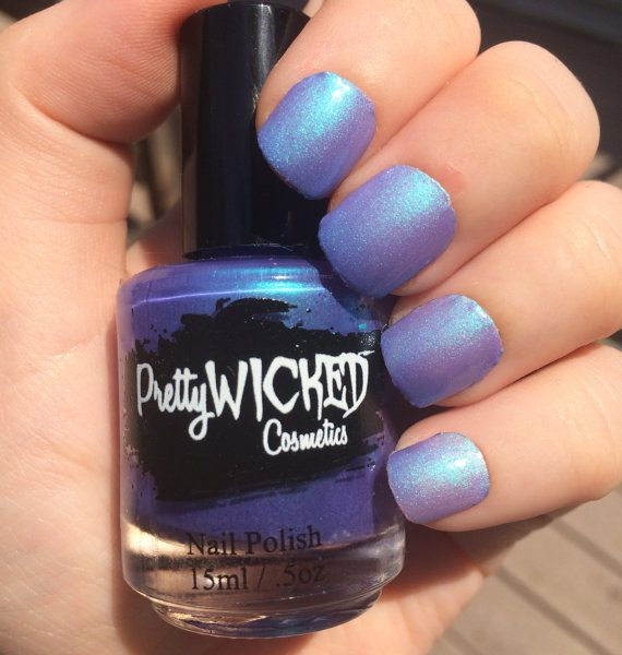Blue/Purple Thermal Nail Polish, Daphne Polish