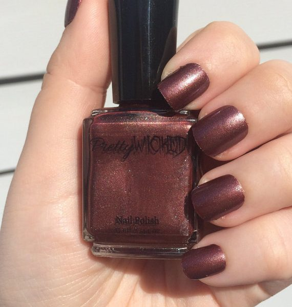 Dark Brownish Red Nail Polish, Xanthe Polish
