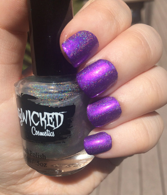 Linear Holographic Top Coat, Genevieve Polish