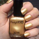 Metallic Pastel Yellow Nail Polish, Helga Polish