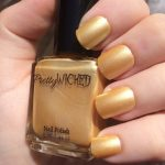 Metallic Pastel Yellow Nail Polish, Helga Polish