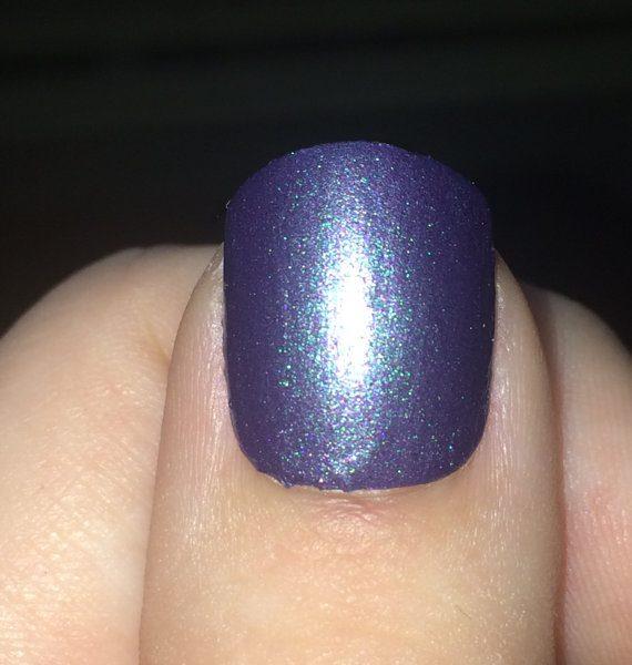 Purple and Green Chameleon Polish, Color Shifting Nail Polish