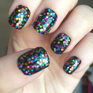 Rainbow Holographic Nail Polish, Dottie Polish
