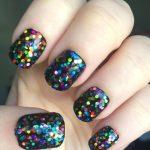 Rainbow Holographic Nail Polish, Dottie Polish