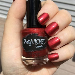 Ruby Red Nail Polish - Lucretia Polish - Bright Red Nail Polish - Metallic Red Nail Polish - Neutral Red Nail Polish - Warm Red Nail Polish