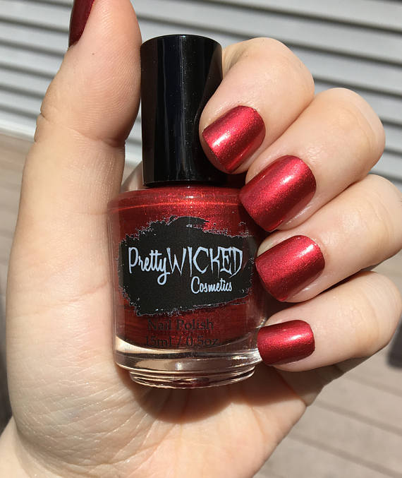 Ruby Red Nail Polish Lucretia Bright Metallic