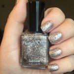 Silver Glitter Nail Polish, Lux Polish