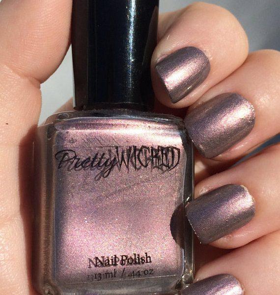 Silver Pink Nail Polish, Darlene Polish